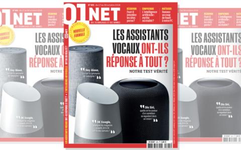 Un nouveau format pour le magazine 01net